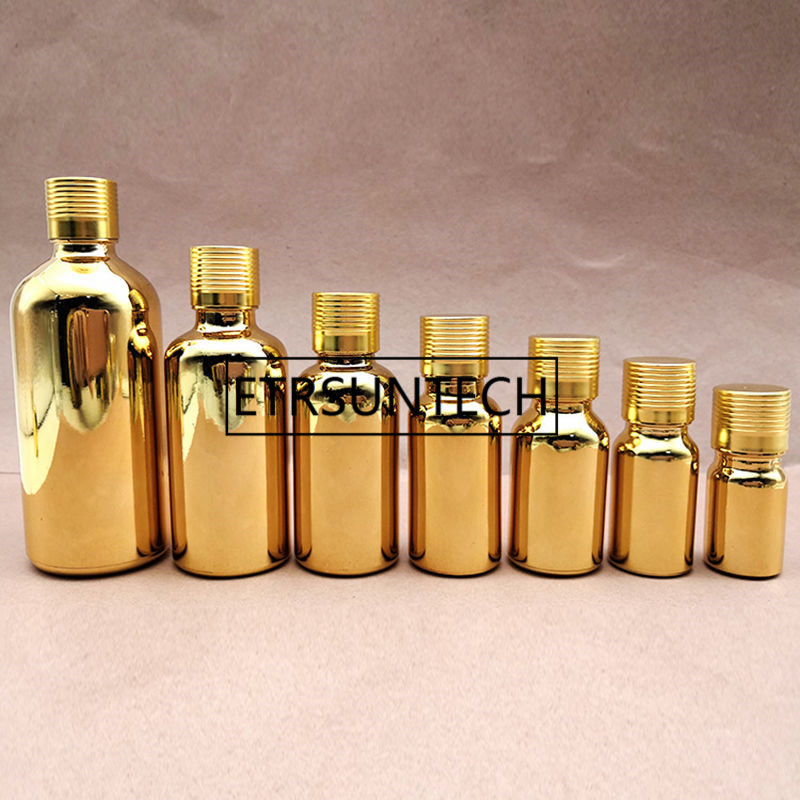 5ml 10ml 15ml <font><b>20ml</b></font> 30ml Perfume <font><b>bottle</b></font> gold <font><b>Glass</b></font> <font><b>Bottle</b></font> <font><b>Vials</b></font> Essential Oil <font><b>Bottle</b></font> <font><b>with</b></font> <font><b>screw</b></font> <font><b>cap</b></font> F1184 image
