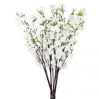 30x Artificial 26 Cherry Plum Spring Peach Blossom Flowers Tree Decor White