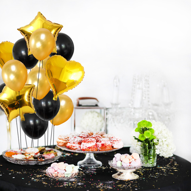 Mixed Solid Color Latex and Foil Balloons Set