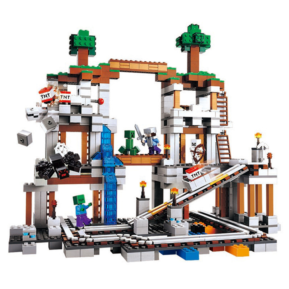 922PCS/set Mini Building Blocks DIY Toy for Children Minecrafted My World Presents for New Year 2018 часы mini world mn1012a