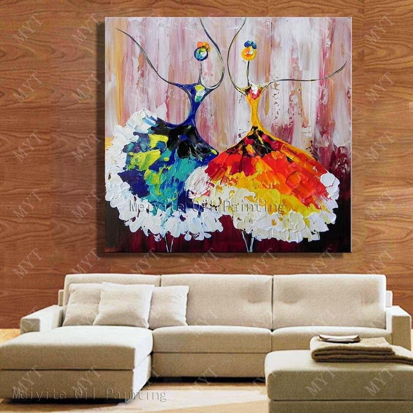 Dibujos Animados pared arte danza pintura al óleo lienzo cuadros ...