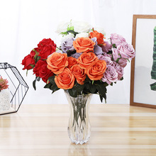 Klonca Romantic Silk Flower 50cm 1pc Artificial Rose Fake for Wedding Wall Home Decoration