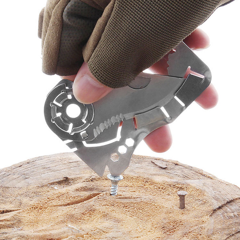 Outdoor EDC portable pocket tools  Creative wolf head Fly-Off multi-function combination tool stainless steel wallet card knife Outdoor EDC portable pocket tools  Creative wolf head Fly-Off multi-function combination tool stainless steel wallet card knife