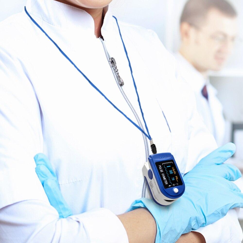 Image 4 - Digital Fingertip Oximeter Spo2 PR Monitor Blood Oxygen Pulse Oximeter Finger Pulse Oximeter Oximetro de dedo-in Blood Pressure from Beauty & Health