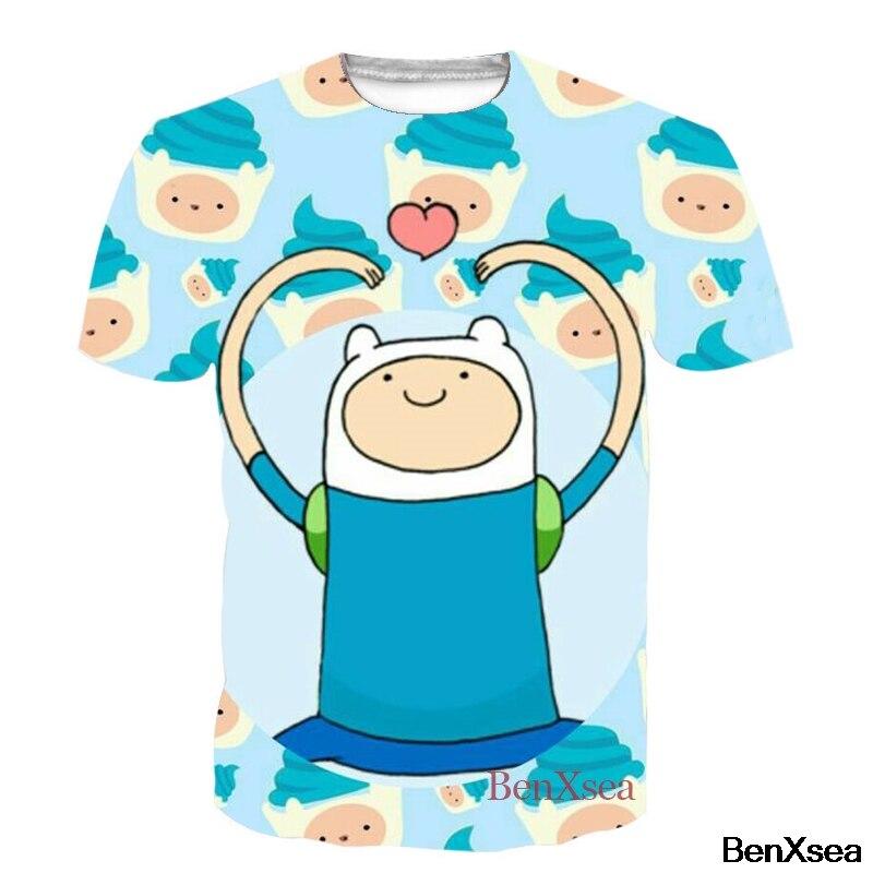 Harajuku Men T Shirt Adventure Time Play Video Games Funny Printed T Shirt