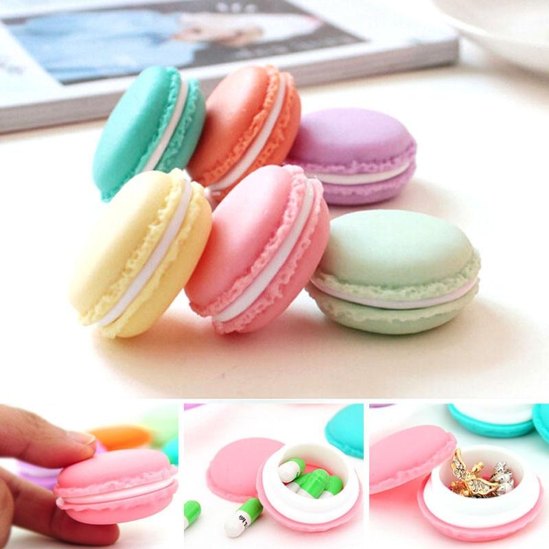 6 unids Mini Macarons Bolsa Caja de Almacenamiento de la Tarjeta SD Del Auricula