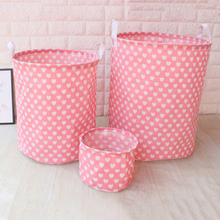 Three Size Large Capacity Laundry Basket Bucket  for Dirty Clothes Waterproof Folding Toy Organizer Storage