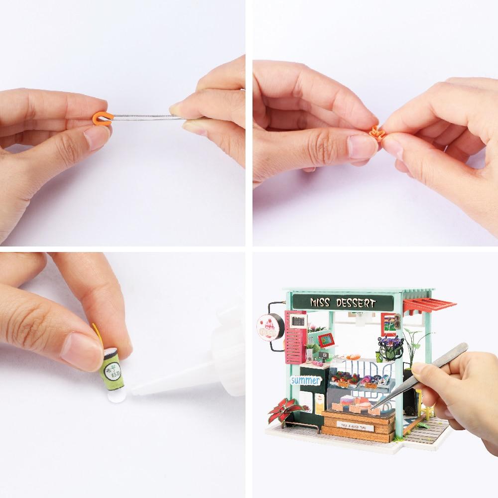 Robotime DIY Glassstation med möbler Barn Vuxen Miniatyr Trä Doll - Dockor och tillbehör - Foto 4