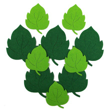 2017 New Felt Leaf Cutting Piece Kindergarten Classroom Layout Decorative Flower Non-woven Material Cloth Stickers Leaves