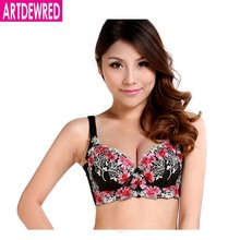 Hot 2017 Sexy 3/4 cup lace push up bra large size sexy women underwear vice milk thin section cup B C cup bra for women