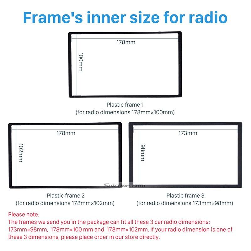 Seicane Classic Gray 2Din Car Radio Fascia Dash Trim Installation