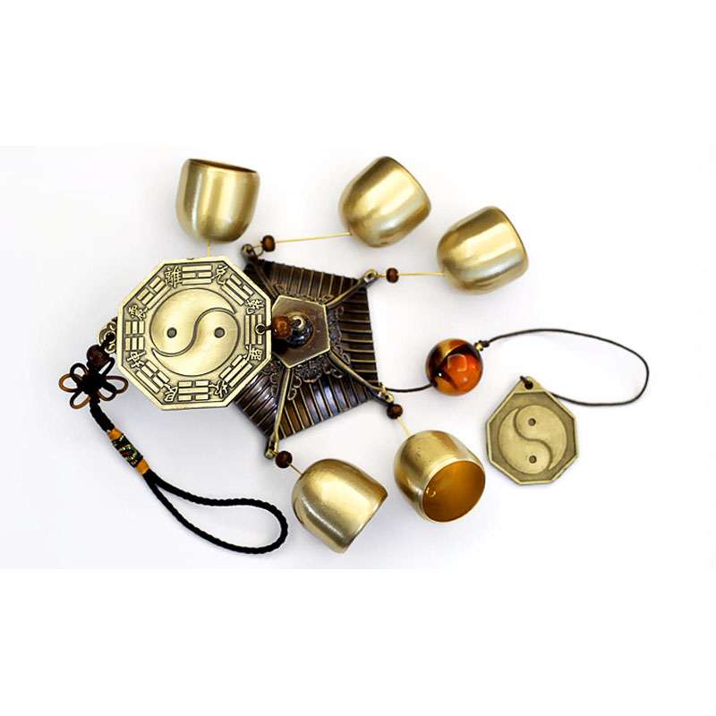 Chinese Traditional Taiji Feng Shui Wind Chimes Hanging Copper Bell Door Chimes Blessing Home Decoration Accessories-in Wind Chimes \u0026 Hanging Decorations ...  sc 1 st  AliExpress.com & Chinese Traditional Taiji Feng Shui Wind Chimes Hanging Copper Bell ...