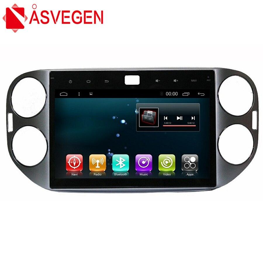Asvegen 10.2 ''Android 6.0 Quad Core voiture Bluetooth Audio multimédia lecteur stéréo Navigation GPS pour Volkswagen Tiguan 2013-2016