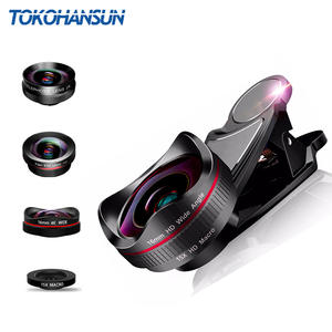 TOKOHANSUN Camera-Lens-Kit 4in1 Fisheye-Lens Mobile-Phone Wide-Angle Samsung 2X HD
