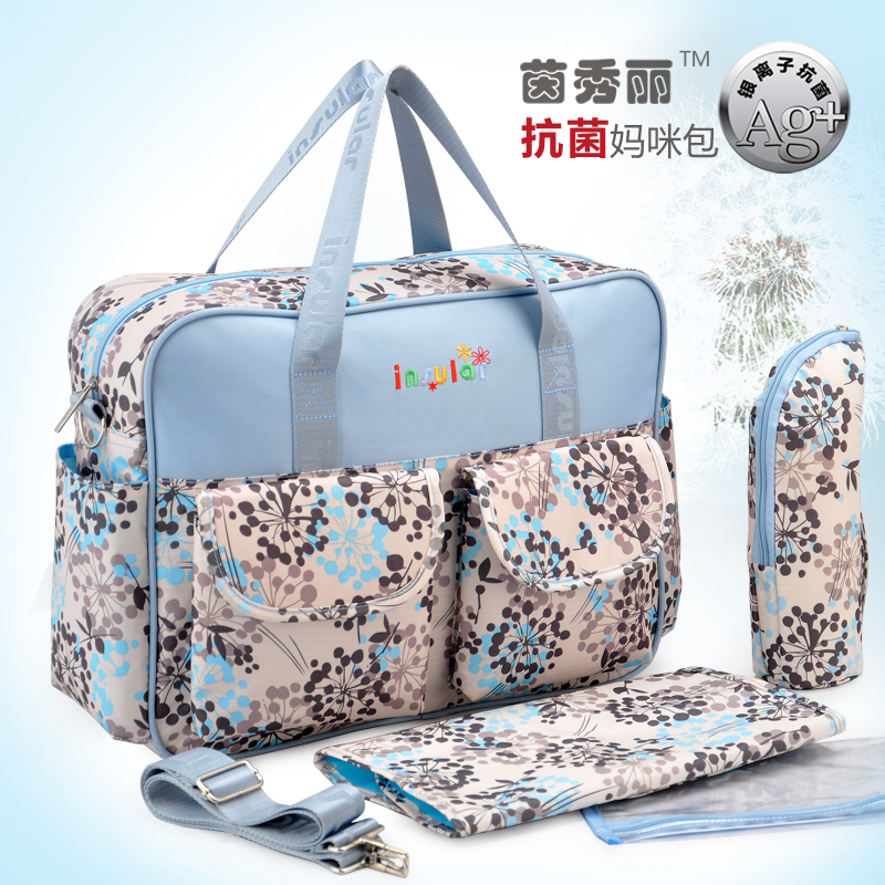 Hot Sale Antimicrobial Baby Diaper Bags Multifunctional Nappy Bag Mummy Bag Mami Stroller Bag antimicrobial