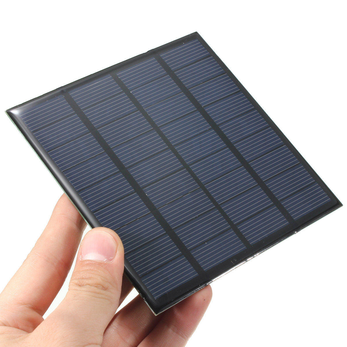 CLAITE Solar Battery Charger 9V 2W 222mA Solar Panel Kit DIY 6V Battery Charger Module Epoxy PV Monocrystalline Cells 115*115mm