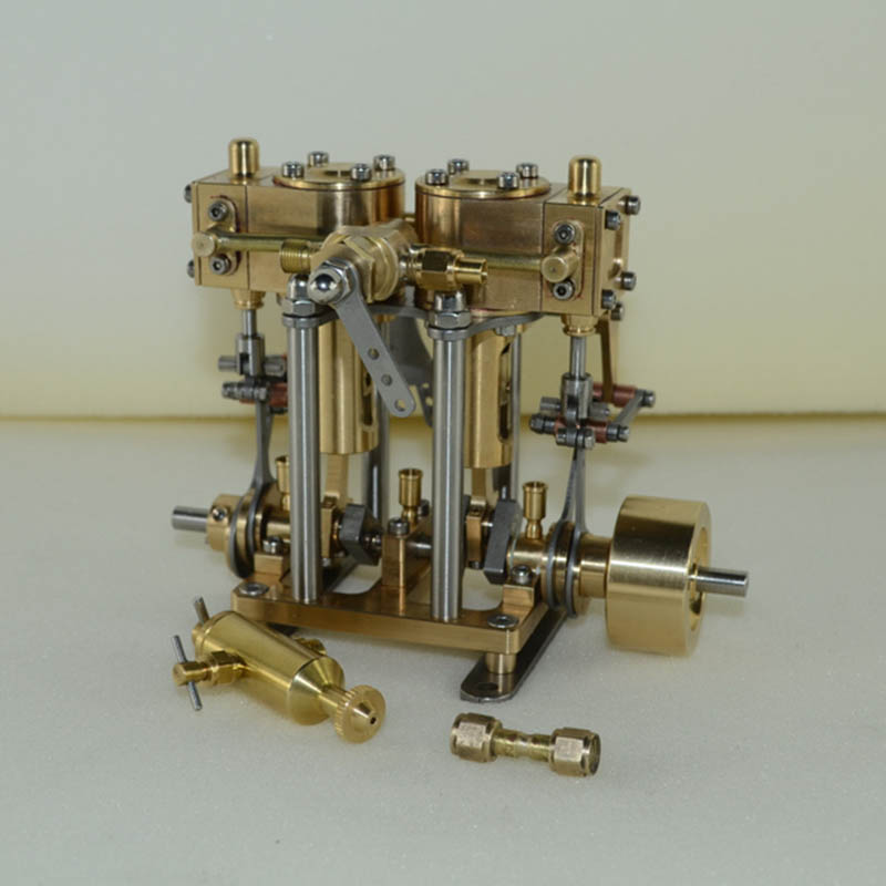 Two Cylinder Reciprocating Steam Engine Model Birthday Steam Engine Model New Products