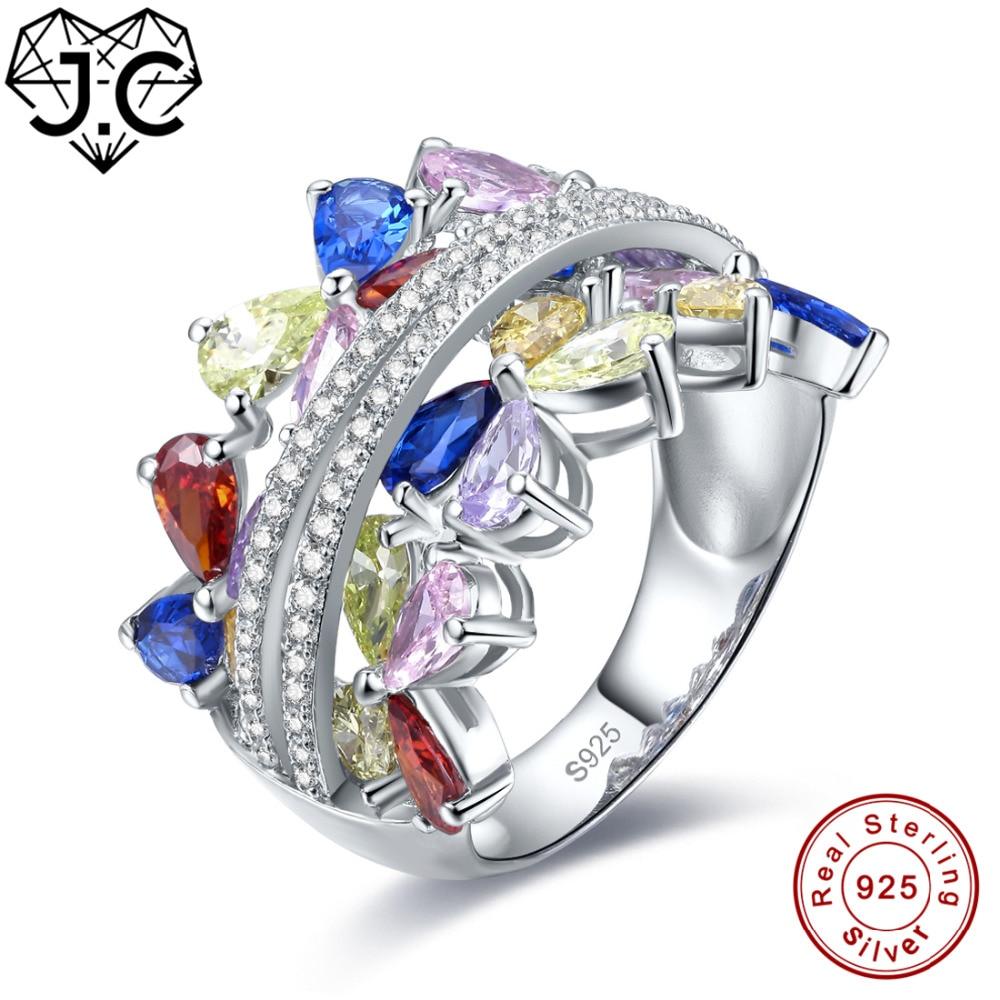 Mother/'s Day Gift Peridot Citrine Amethyst Topaz Red Garnet Ring 925 Silver