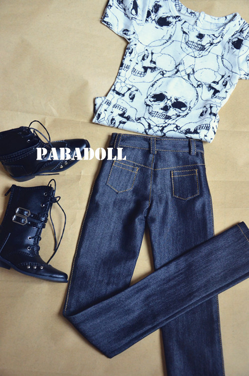 Cool BJD Doll Black Jeans Pants for 1/6 YOSD,1/4 MSD,1/3(SD10/SD13), SD16,SD17,Uncle BJD Doll Clothes Customized CMB36