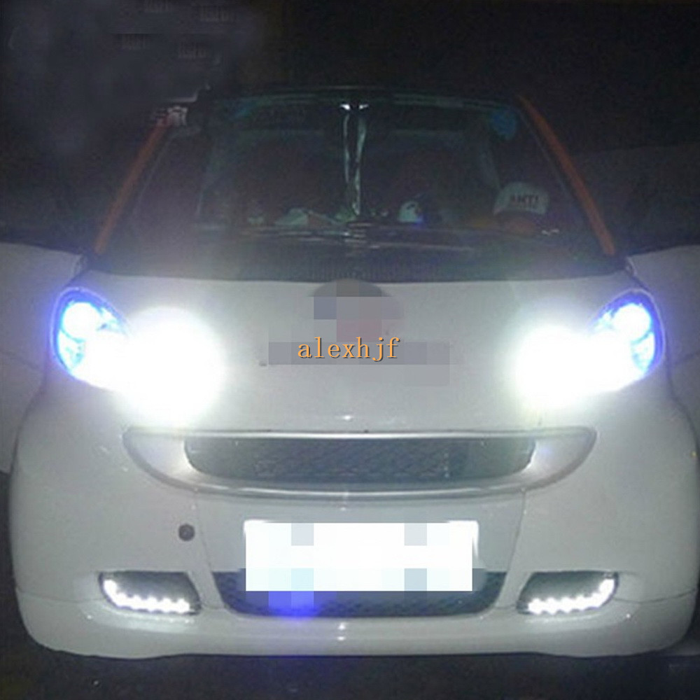 July King LED Daytime Running Lights DRL, LED Fog Lamp case for Smart fortwo 2008~ON 1:1 replacement, free shipping july king led daytime running lights drl led yellow turn signals case for volkswagen polo 2014 on led fog lamp 1 1 replacement