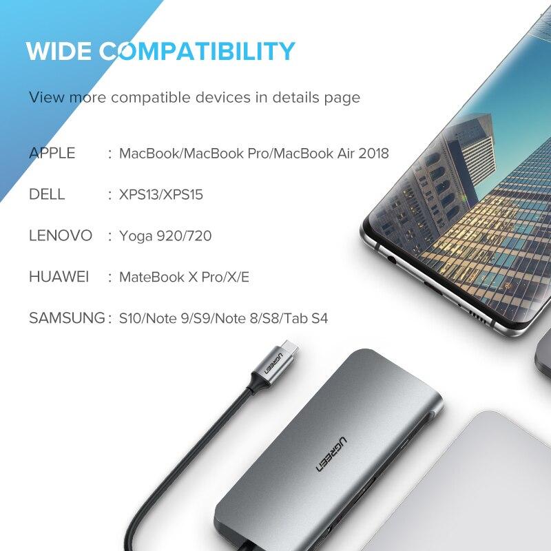 Ugreen HUB USB C HUB vers Multi USB 3.0 adaptateur HDMI Dock pour MacBook Pro accessoires USB-C Type C 3.1 séparateur 3 ports USB C HUB - 6
