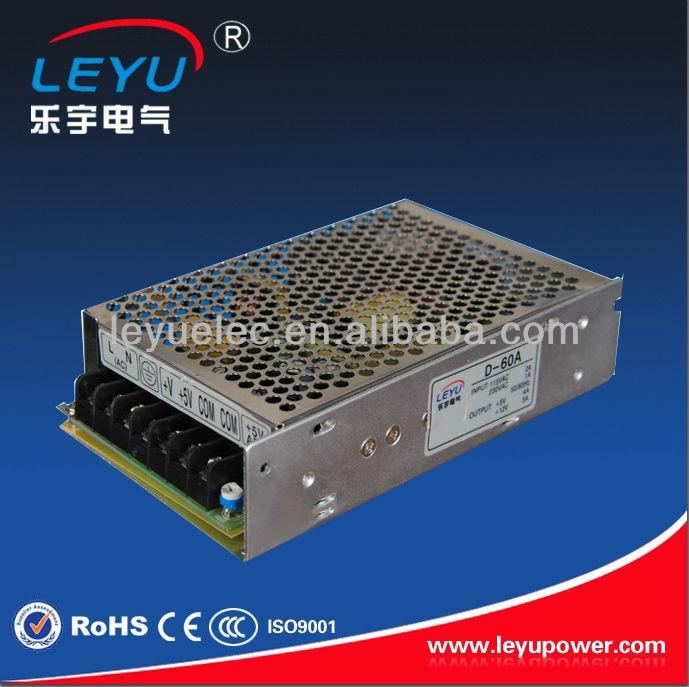 CE RoHS 60W 5V and 12V or 5V and 24V Dual output Power Supply