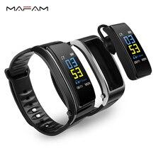 MAFAM Y3 Plus Smart Talk Band Bluetooth Earphone Smart Band Bracelet Heart Rate Monitor Wrist Band Fitness Tracker Smartwatch