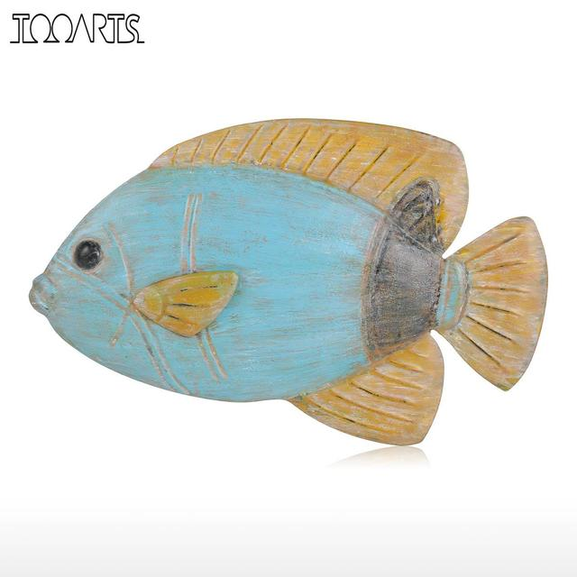 Tooarts Fish Wall Hanging Iron Wall Decor Creative Ornament Craft Wall Setting Marine Life home decoration accessories