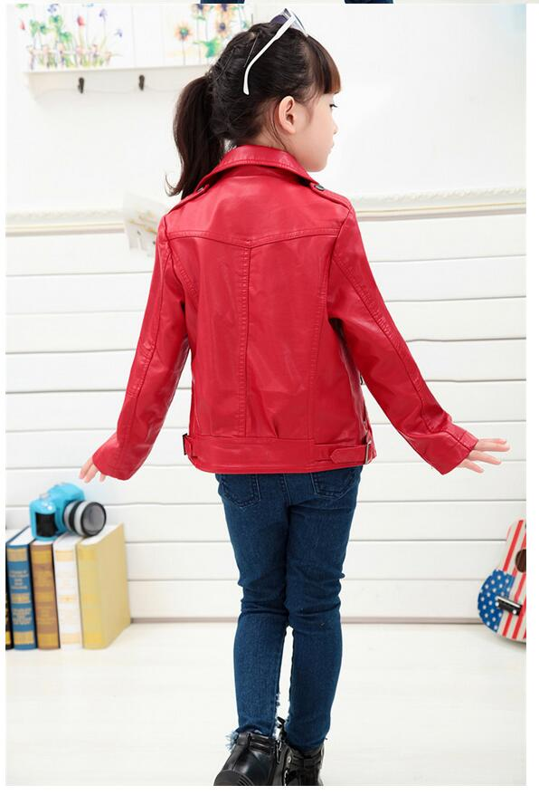 Baby Boys Leather Jacket Kids Girls and Coats Spring Kids Leather - Children's Clothing - Photo 3