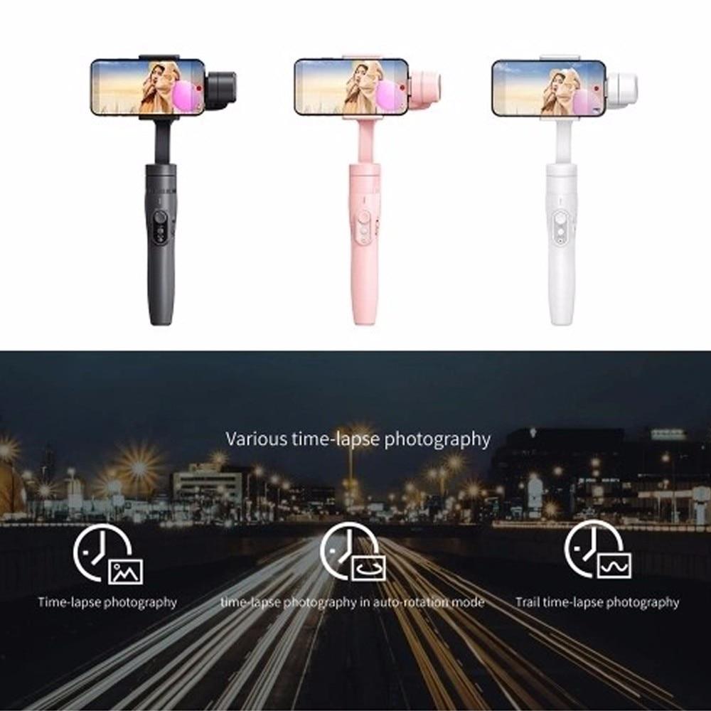 Feiyu Vimble 2 Cardan Estabilizador Handheld Selfie Vara de Viagem para o iphone X 8 Além de 7 Samsung Galaxy S9 S8 + para XIAOMI Smartphone