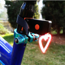 5 Mode Heart-Shaped COB USB Bicycle Tail Light Bike Lamp LED Cycling MTB Safety Warning Tail Light Waterproof A1