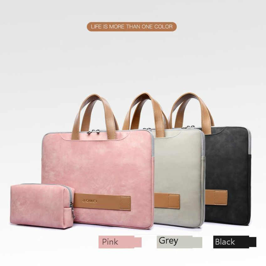 f05e449958 ... 2018 Fashion Women Laptop Bag Portable Ultrathin Computer Handbag Men  Briefcase Pu Leather Notebook Bags For ...