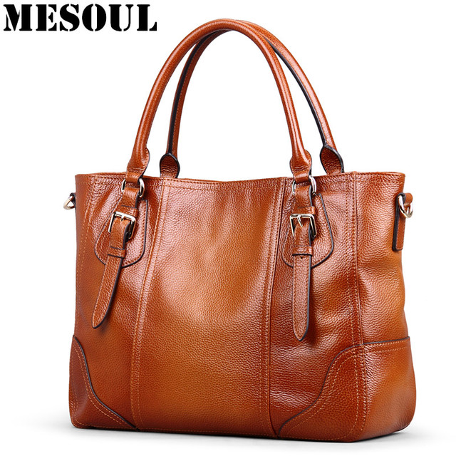 9c8f89dbd8 Brand Luxury Women Handbags Genuine Leather Ladies Bag Totes Vintage Large  Capacity Office Shoulder Bags Female