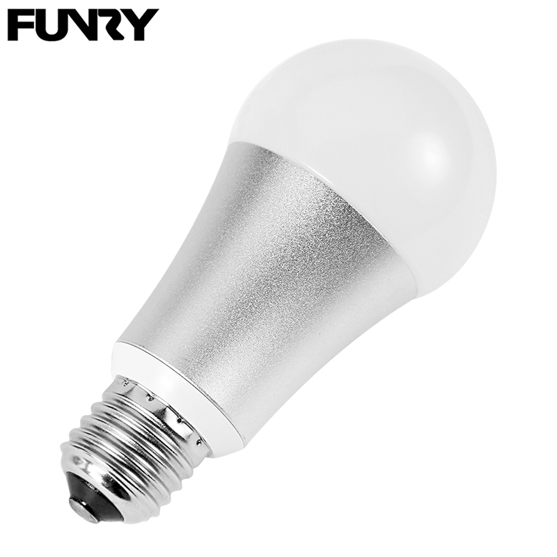 FUNRY WI-FI Control RGB Color Changing Bulbs, Smart Voice Control Led Light, E27 Dimmable Lamp Bulb
