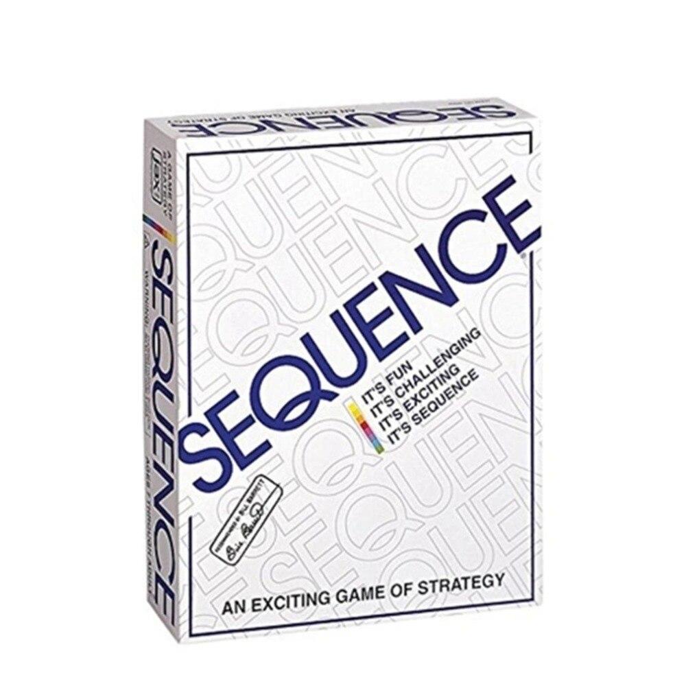 Jeux de fête séquence cartes à jouer jeu stratégie famille fête école jeu anglais arabe cartes juego de mesa 26cm * 20.5cm