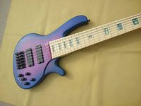 free shipping 6 String Electric Bass Purple Flamed Maple and Northern Ash 6strings electric bass