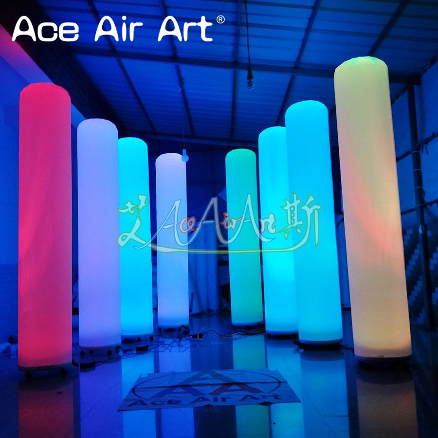 Attractive Inflatable Lighting Led Pillar wedding column Inflatable Party Lights for Decoration