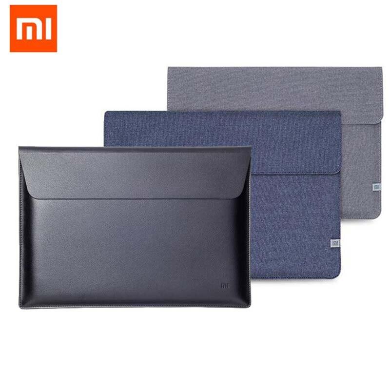 Original Xiaomi Air 12.5 13.3 Inch Laptop Sleeve Bags For Macbook Air 13 11 Retina 12 A1932 Surface 4 5 Case Notebook PU Leather