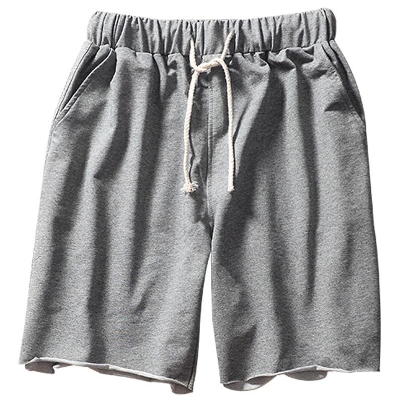 Summer Hip Hop Sweatpants Shorts Men Kanye Streetwear Loose Shorts Grey Sports Running Casual Mens Sweat Jogger Shorts S6T272
