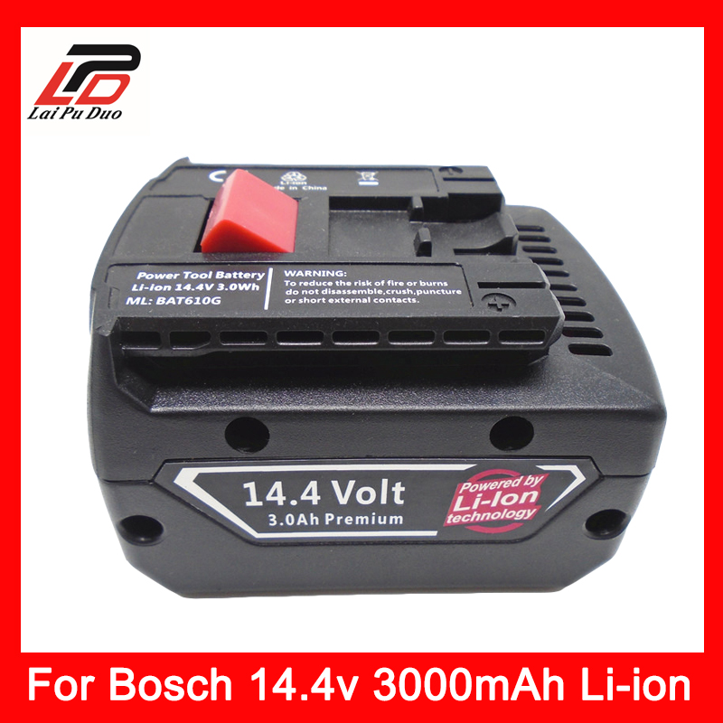 NEW 14.4v 3.0Ah Li-ion battery Replacement For Bosch BAT607,BAT614 BAT614G 2 607 336 078 2 607 336 150 2 607 336 224 аккумулятор bosch 18в 3ач li ion 2 607 336 236