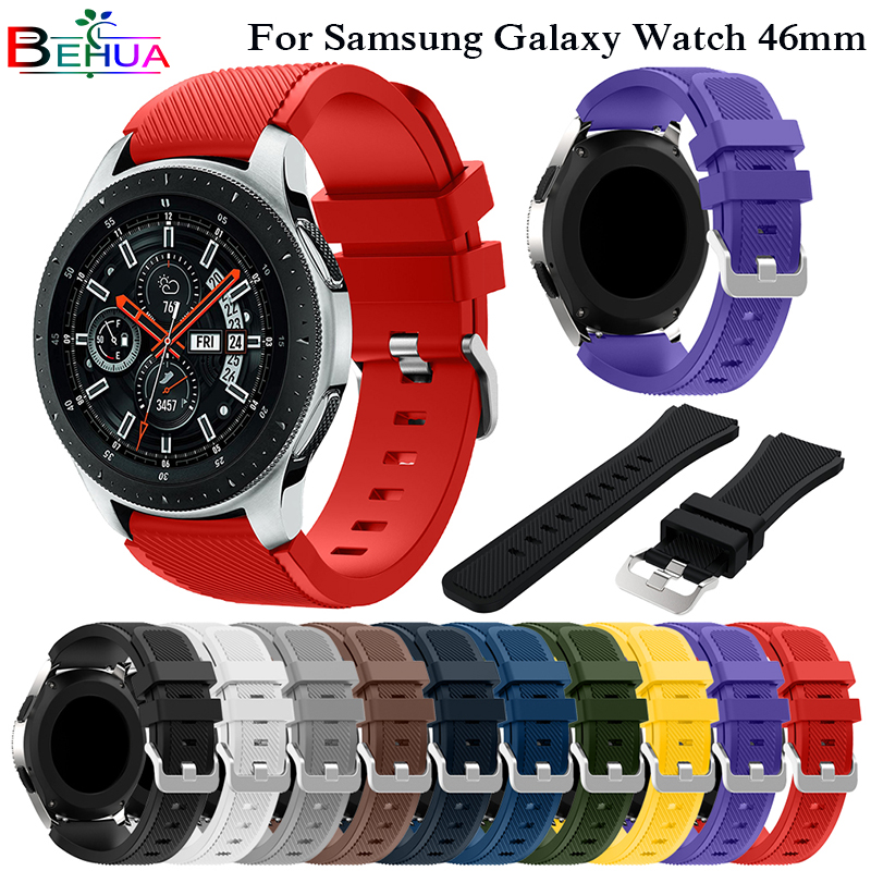 Sport silicone strap band For Huami Amazfit Stratos 2/2S Bracelet Soft Wrist watch strap for Samsung Galaxy Watch 46mm Straps fashion woven nylon watch band loop strap for samsung galaxy watch 42 46mm colorful wrist band strap for samsung sports straps