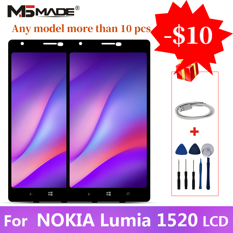 For Nokia Lumia 1520 RM 937 RM 940 LCD Touch Screen Digitizer Display Replacement Assembly Parts With Frame Free Shipping