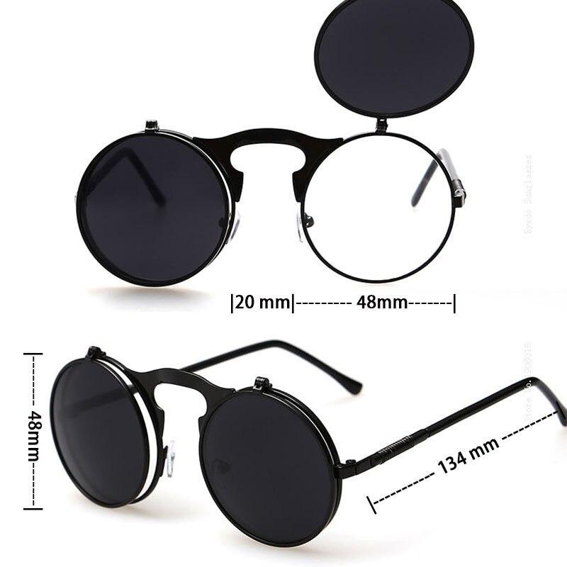 Vega Terbaik Flip Up Kacamata Hitam Pria Wanita Punk Kacamata Bulat  Steampunk Kaca Mata Lingkaran Kacamata Vintage Kacamata 3057 di Kacamata  Hitam dari ... 1848d88f57