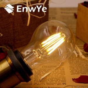 Image 2 - EnwYe الرجعية اديسون ضوء لمبة 4 واط E27 E14 220 فولت A60 G45 C35 الرجعية التنغستن لمبة بفتيلة المتوهجة اديسون مصباح