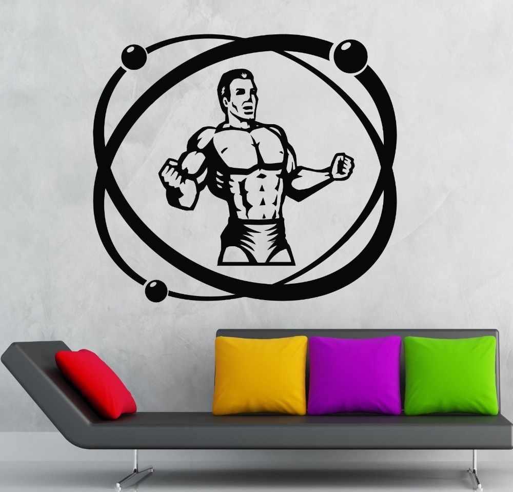Mode Berotot Pria Atlet Olahraga Poster Stiker Dinding Decals Untuk Latihan Binaraga Gaya Hidup Sehat Man Home Decor Murlas