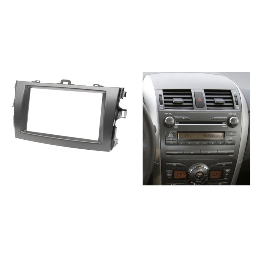 Radio fascia for toyota corolla 2 din cd gps dvd stereo cd panel dash mount installation