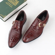 Handmade buckle Luxury Brand Wedding Party Dress formal shoes Genuine Leather