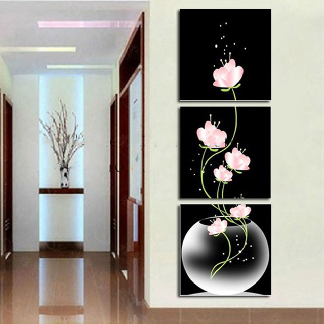Aliexpress.Com : Buy Modern Home Decor Flower Vase Oil Painting
