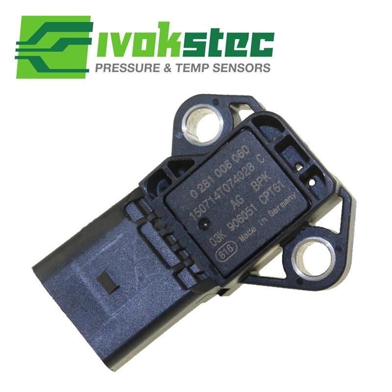 4 BAR Intake Manifold Boost Pressure MAP Sensor Drucksensor For VW Audi 03K906051 0281006059 free delivery intake pressure sensor 0261230011 genuine
