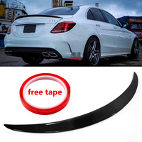 Autoleader Car Real Carbon Fiber Boot Spoiler Wing Trunk Spoiler Wing for Mercedes for Benz W205 C300 C400 4MATIC 2015 2017